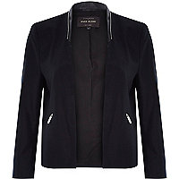 Navy structured jacket