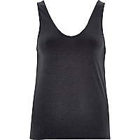 Dark grey jersey loose vest