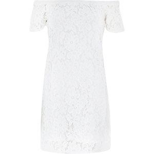 Cream lace bardot swing dress