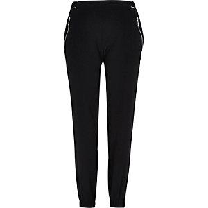 Black soft joggers