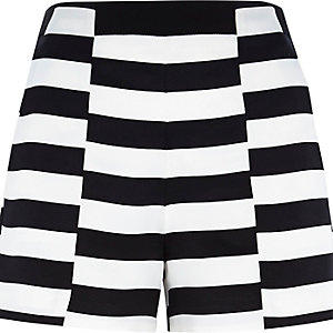 White stripe smart shorts