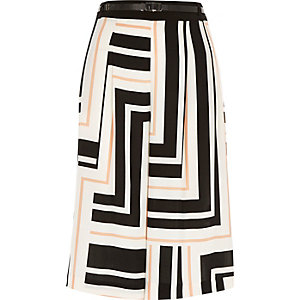 White stripe culottes