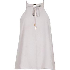 Light grey bow cami