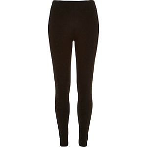 Black high waisted zip back leggings