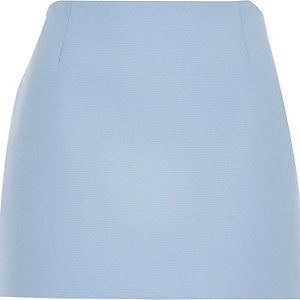 Blue mesh pelmet mini skirt