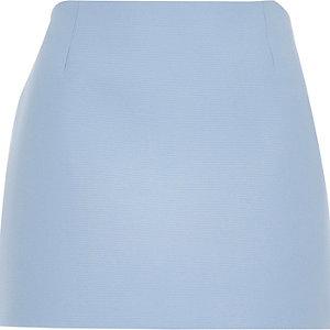 Blue mesh pelmet mini skirt