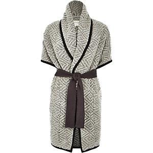 Grey slouchy blanket jacket