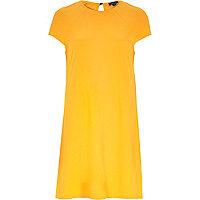Orange short sleeve swing dress