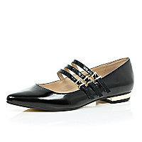Black multi strap shoes