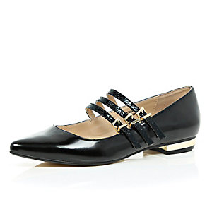 Black multi strap shoes