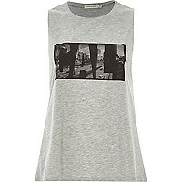 Grey Cali print swing tank top