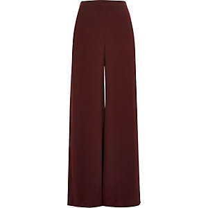 Dark purple soft palazzo pants