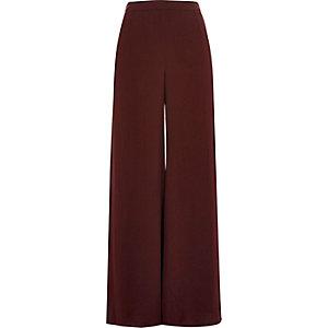 Dark purple soft palazzo pants