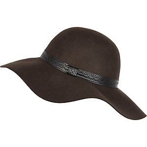 Dark brown floppy hat