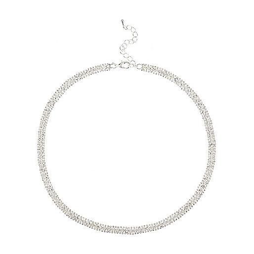 Silberfarbene Glitzer-Halskette