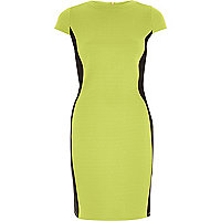 Lime green bodycon mini dress
