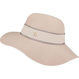 Pink RI floppy fedora hat