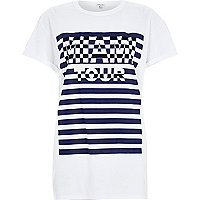 White Miami Tour oversized t-shirt