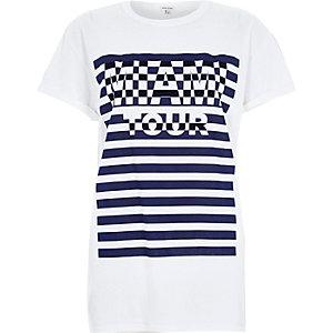 White Miami Tour oversized t-shirt