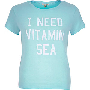 Green vitamin sea print t-shirt