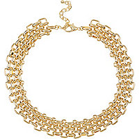 Gold tone chain link necklace