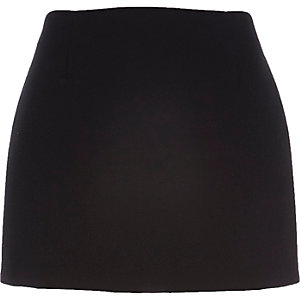 Black pelmet mini skirt