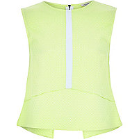 Lime green contrast tank top