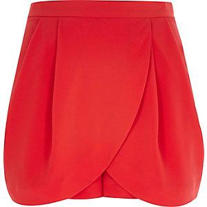 Bright red smart skort