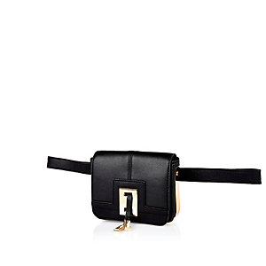 Black metal trim mini bumbag