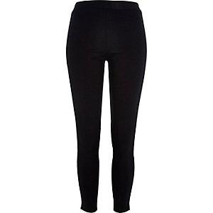 Black premium high waisted zip leggings