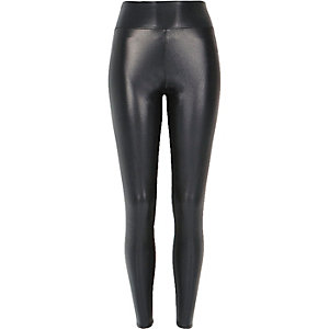 Grey pearlescent high waisted leggings