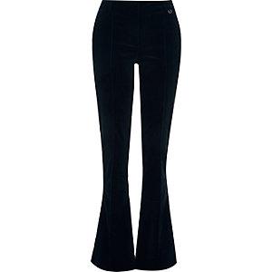 Navy corduroy flare pants