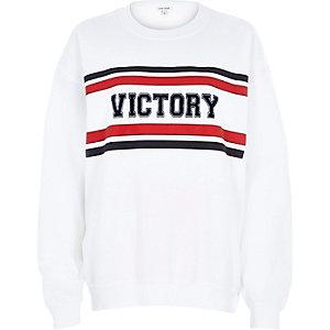 White victory print sweatshirt