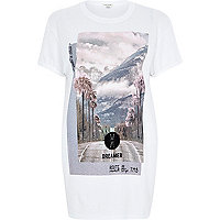 White city escape print oversized t-shirt
