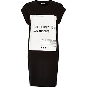 Black California 1991 oversized t-shirt dress