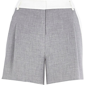 Grey and white smart shorts