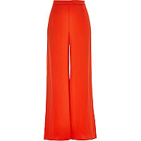 Orange soft palazzo pants