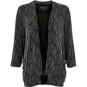 Black metallic kimono jacket