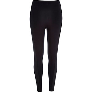Black side panel leggings