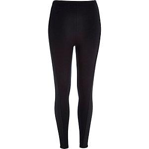 Black side panel leggings