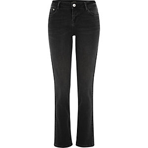 Washed black Stevie straight jeans
