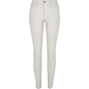 Grey coated Molly jeggings