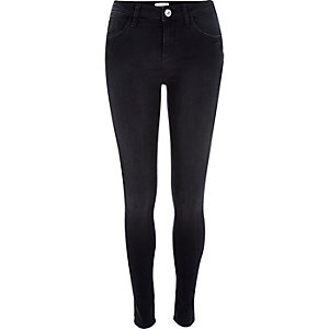 Black washed Amelie superskinny jeans