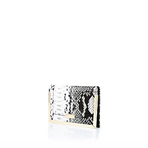 Black snake print RI passport holder