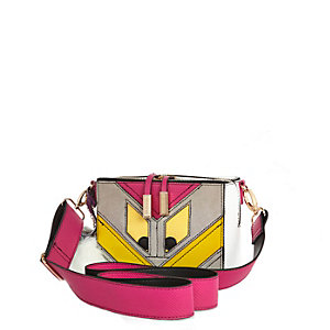 Pink monster cross body bag
