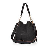 Black slouchy shoulder handbag