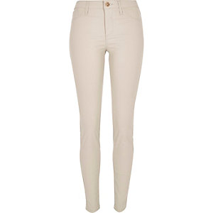 Cream coated Molly jeggings