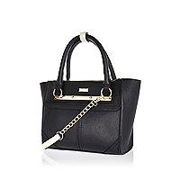 Black mini tote handbag