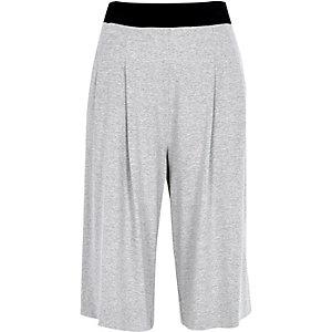 Grey jersey culottes