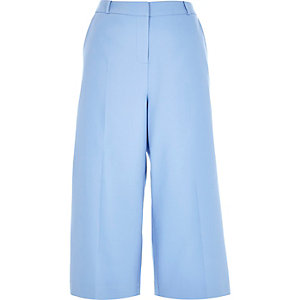 Blue smart culottes